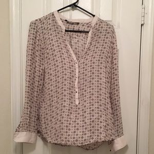 Zara Thin Silk-Like Button Up
